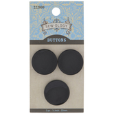 Glossy Black Concave Buttons - 22mm