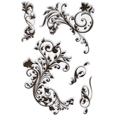 Fanciful Flourishes Clear Stamps