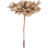 Natural Burlap Dahlia Pick