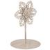 White Flower Metal Photo Clip
