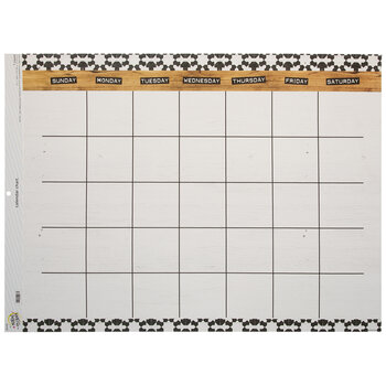 Farmhouse Calendar Bulletin Board Chart