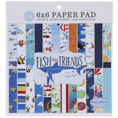 "Fish Are Friends Cardstock Paper Pack - 6"" x 6"""