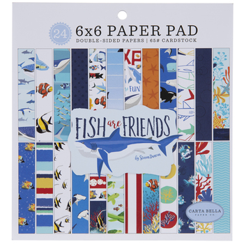 """Fish Are Friends Cardstock Paper Pack - 6"""" x 6"""""""