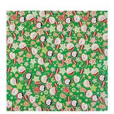Santa & Christmas Cookies Gift Wrap