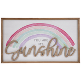 You Are My Sunshine Rainbow Wood Wall Decor
