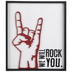 We Will Rock You Wood Wall Decor