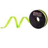 "Neon Green Grosgrain Ribbon - 1/4"""