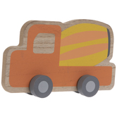 Mixer Truck With Wheels Wood Decor