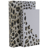 White & Brown Leopard Print Book Box Set