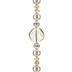Champagne Glass Pearl & Rhinestone Bead Strand