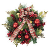 Pine, Ornament & Bow Wreath