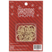 Gold Swirl Metal Ornament Hooks