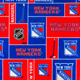 NHL New York Rangers Block Fleece Fabric