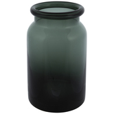 Dark Green Glass Vase - Large