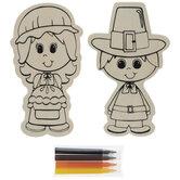 Pilgrim Boy & Girl Wood Craft Kit