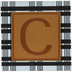 Plaid & Leather Letter Wood Wall Decor - C