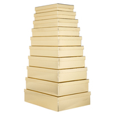 Gold Foil Nested Rectangle Box Set