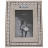 "Friends Beaded Wood Frame - 4"" x 6"""