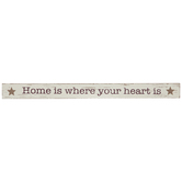 Home Is Where Your Heart Is Wood Decor