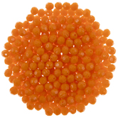 Orange Faceted Beads - 8mm