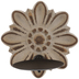 Brown Distressed Flower Wood Wall Sconce