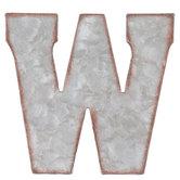 Galvanized Metal Letter Wall Decor - W