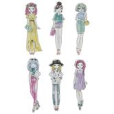 New Girls 3D Stickers