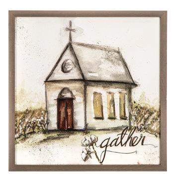 Gather Church Wood Wall Decor