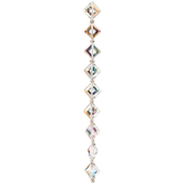 Crystal AB Gemcut Diamond Glass Bead Strand - 13mm