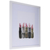 Watercolor Lipstick Framed Wall Decor