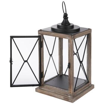 Brown & Black Wood Lantern