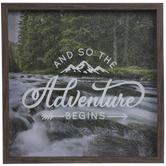 Adventure Begins Framed Wood Wall Decor