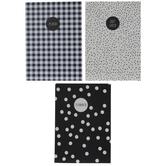 Monochrome A6 Notebooks