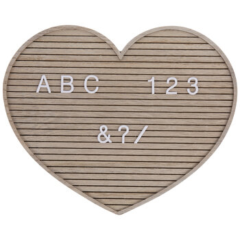 Heart Wood Letter Board