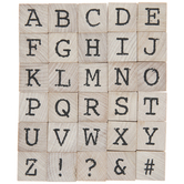 Uppercase Vintage TypeAlphabet Rubber Stamps