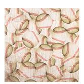 "Baseball Scrapbook Paper - 12"" x 12"""