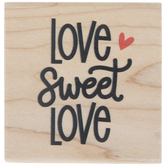 Love Sweet Love Rubber Stamp