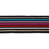 Pink, Blue & Black Striped Belting Trim