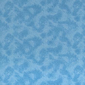Blue Leaf Blender Cotton Calico Fabric