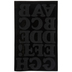 Black Chunky Flocked Iron-On Applique Alphabet - 2