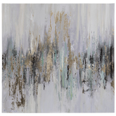 Dripping Gold Canvas Wall Decor