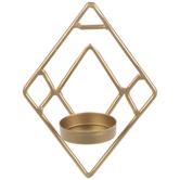 Gold Diamond Mini Metal Wall Sconce