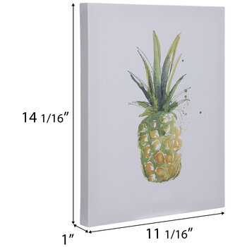 Watercolor Pineapple Canvas Wall Decor