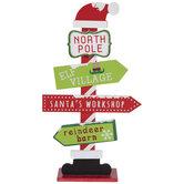 North Pole Wood Street Sign