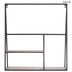 Black & Brown Three-Tier Metal Wall Shelf