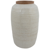 Gray Geometric Vase - Large