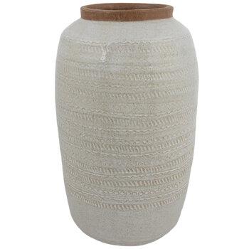 Gray Geometric Vase