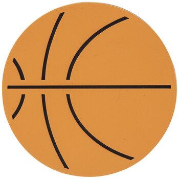Basketball Painted Wood Shape