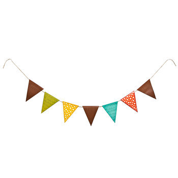 Woodland Party Pennant Banner