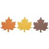 Orange, Yellow & Brown Foam Leaves